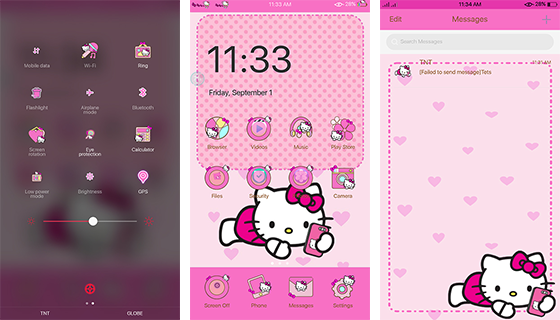 Oppo Theme: Oppo Hello Kitty Pinkish Theme