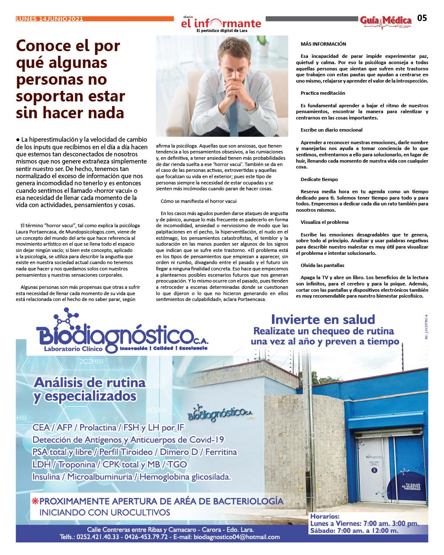 GUÍA MÉDICA EI INFORMANTE - Nº5