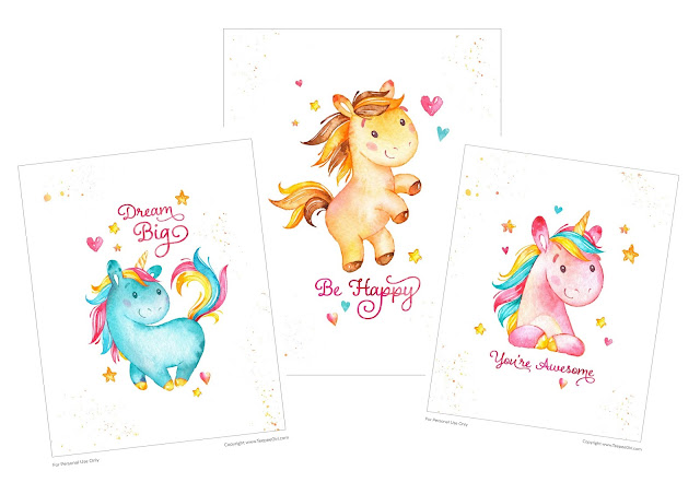 Free Printable Unicorn Posters.