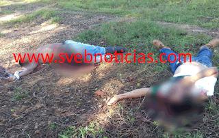 Hallan dos hombres ejecutados en colonia Díaz Ordaz de Agua Dulce Veracruz