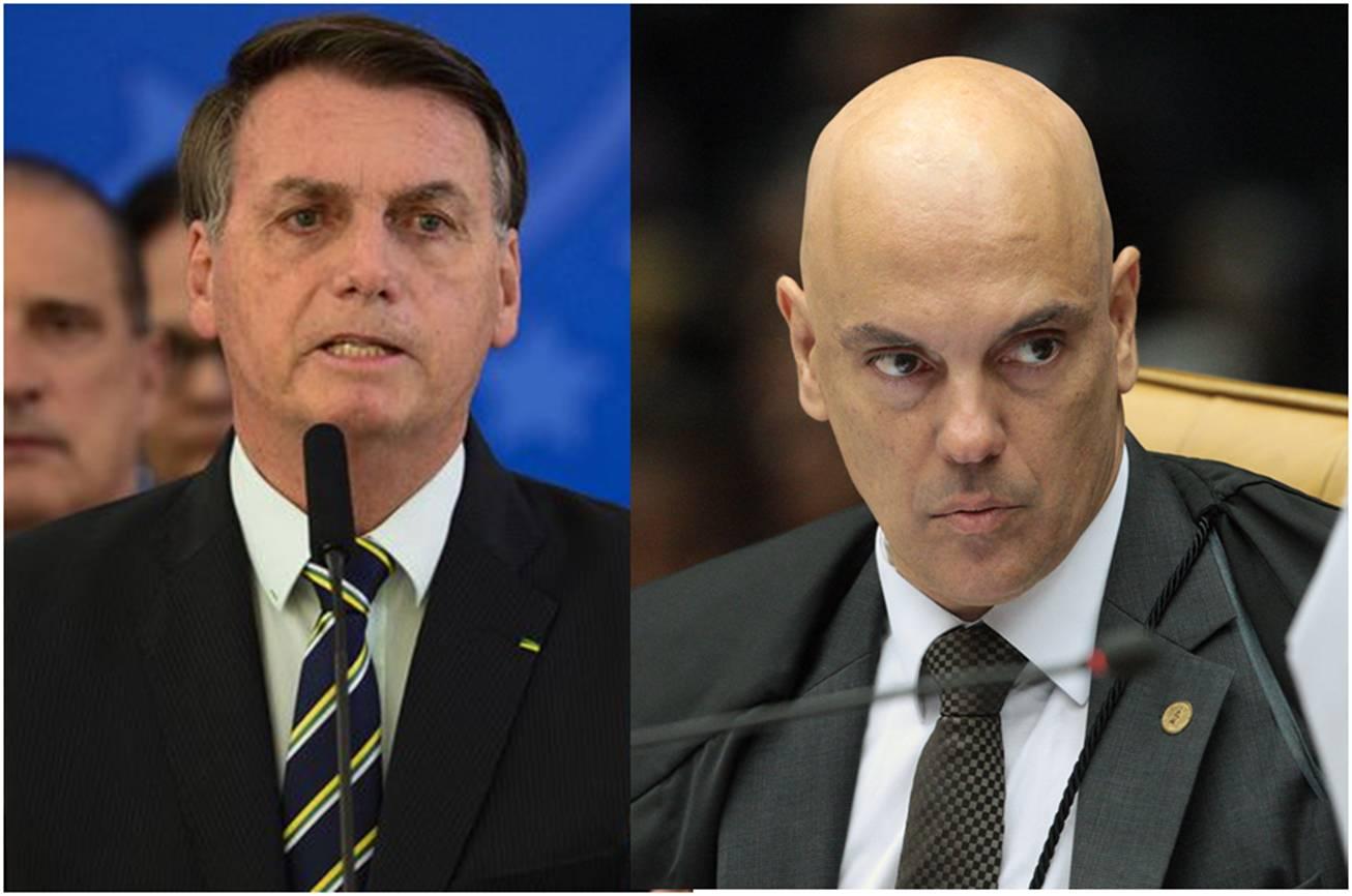 Bolsonaro critica Alexandre de Moraes por suspender nomeação de Ramagem