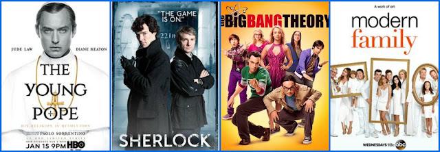 Серіали Молодий Папа, Шерлок, Теорія великого вибуху, Американська сімейка