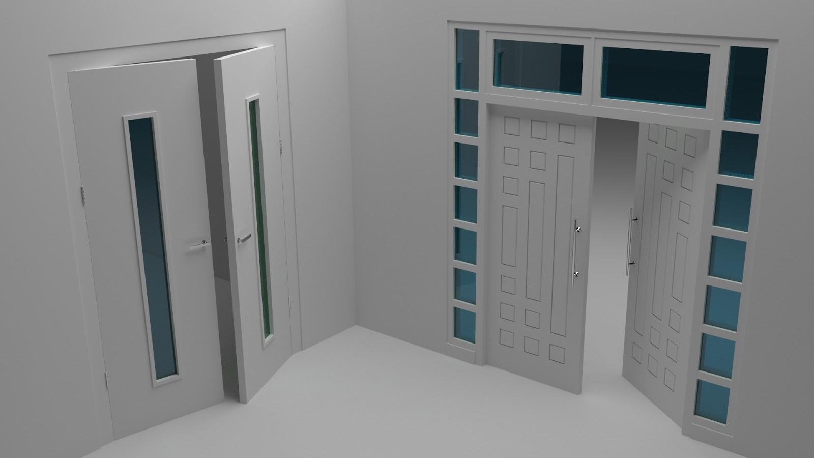 Free 3D Folding Doors .blend file