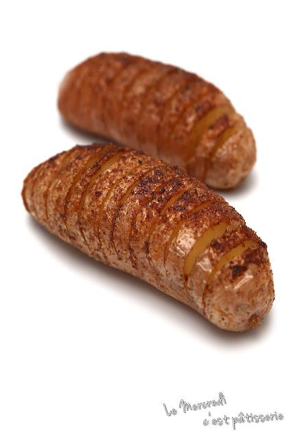 Hasselbackpotatis ou Pommes de terre à la suédoise