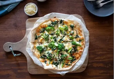 طريقة عمل بيتزا بالخضروات