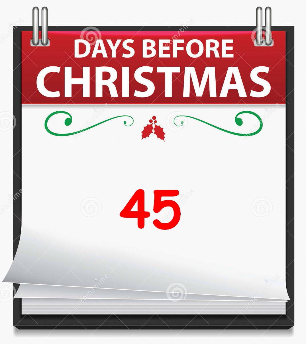 christmas countdown 45 crumby days till christmas