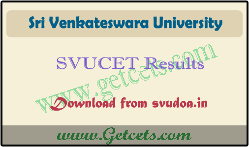 SVUCET 2021 Results, svu pg entrance exam rank card download