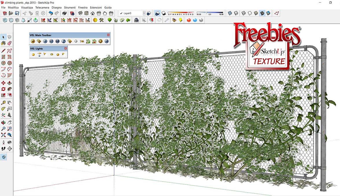 SKETCHUP TEXTURE: SKETCHUP 3D MODEL VEGETATION