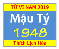 Tử Vi Tuổi Mậu Tý 1948 Năm 2019 - Nam Mạng - Nữ Mạng