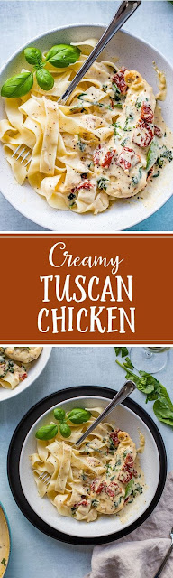 Creamy Tuscan Chicken With Spinach and Sun-Dried Tomatoes