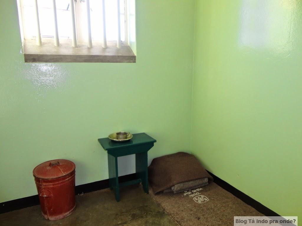 cela onde o Mandela ficou em Robben Island
