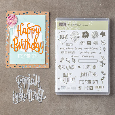 Happy Birthday Gorgeous is an amazing stamp set and die which give you endless possibilities. You will never be stuck without a birthday card for that someone special again. Get your set today here - http://bit.ly/2fJOMhF - Simply Stamping with Narelle