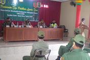 Babinsa Gantiwarno Berikan Pembinaan Linmas Untuk Pam Pilkada 2020