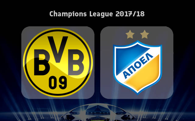 Borussia Dortmund vs APOEL Nicosia Full Match & Highlights 1 November 2017