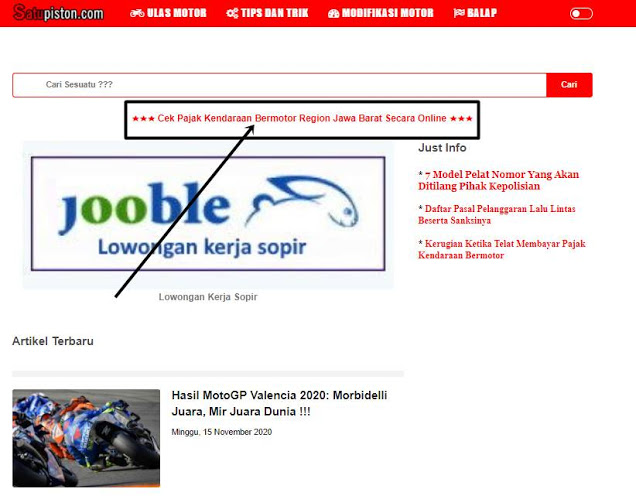Denda Pajak Kendaraan Bermotor Jawa Barat, Cek Besarannya Di Sini !!!