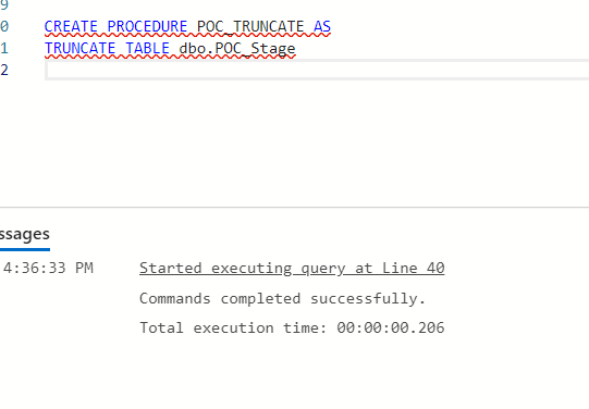 Create Stored Procedure in Azure Data Studio