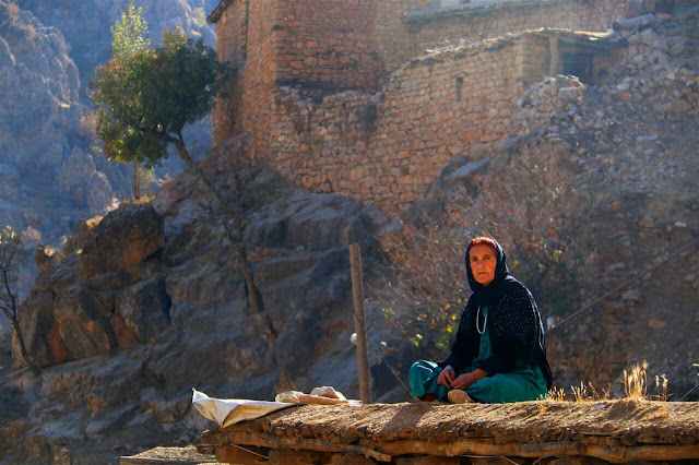 A local woman in the Palangan village in Kermanshah province of Iran.