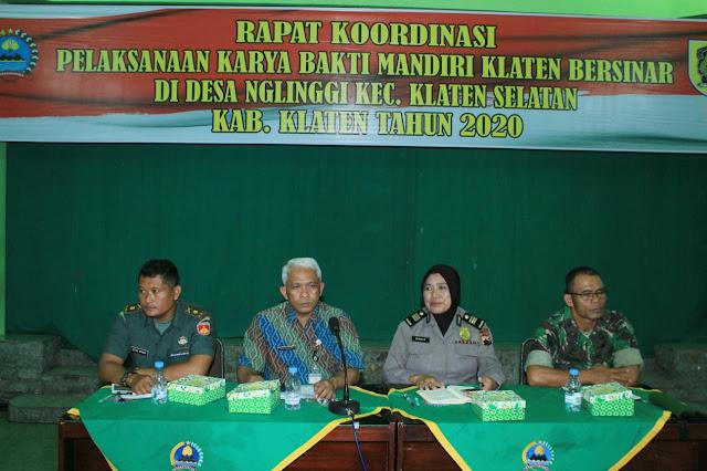 Kodim Klaten gelar Rapat Koordinasi pelaksanaan Karya Bakti Mandiri Klaten Bersinar