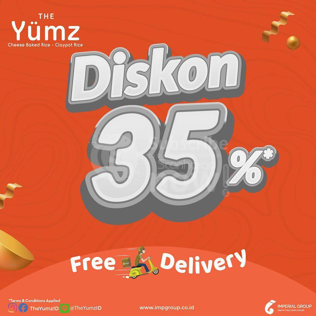 The Yumz Promo Diskon hingga 35% khusus Delivery