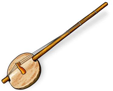 アフリカの弦楽器:エコンティン akontin / ekontin