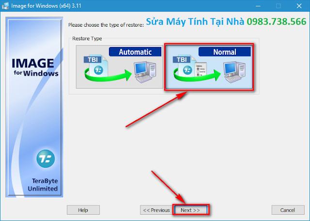 Cách bung file TBI bằng TeraByte Image