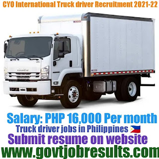 CYO International Truck Driver Recruitment 2021-22