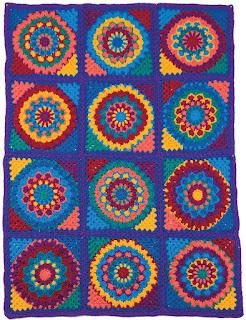 Crochet a Mandala Granny Afghan Pattern
