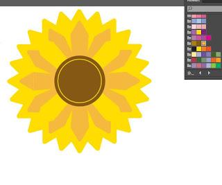 Cara Membuat Bunga matahari di Adobe Illustrator