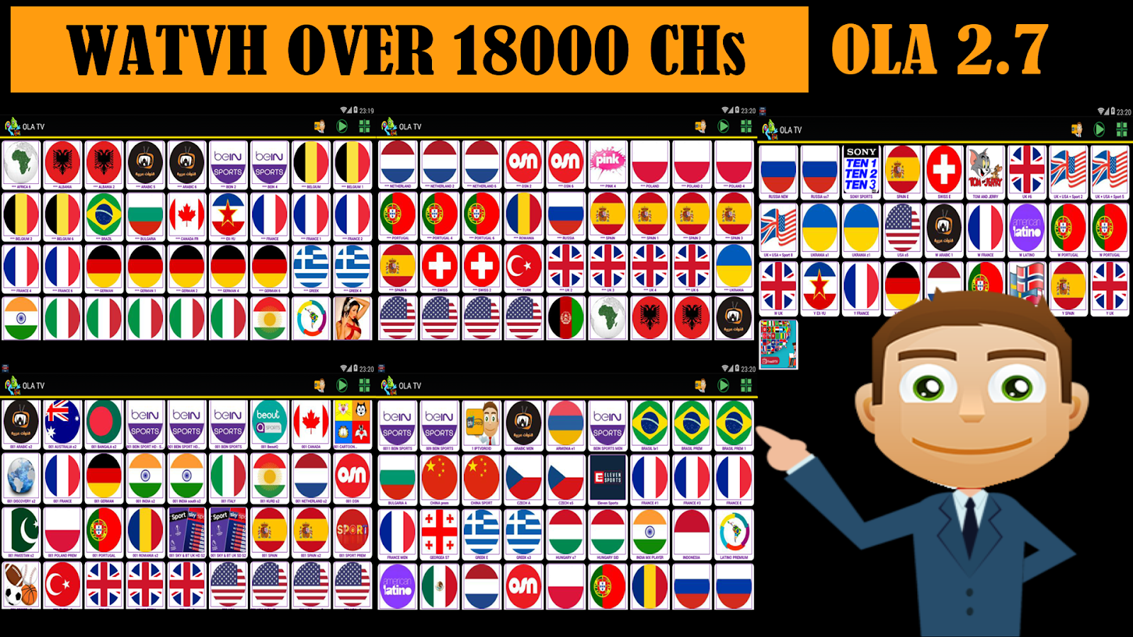 OLA TV V 2 7 BEST FREE IPTV & WATCH OVER 18000 CHANNELS