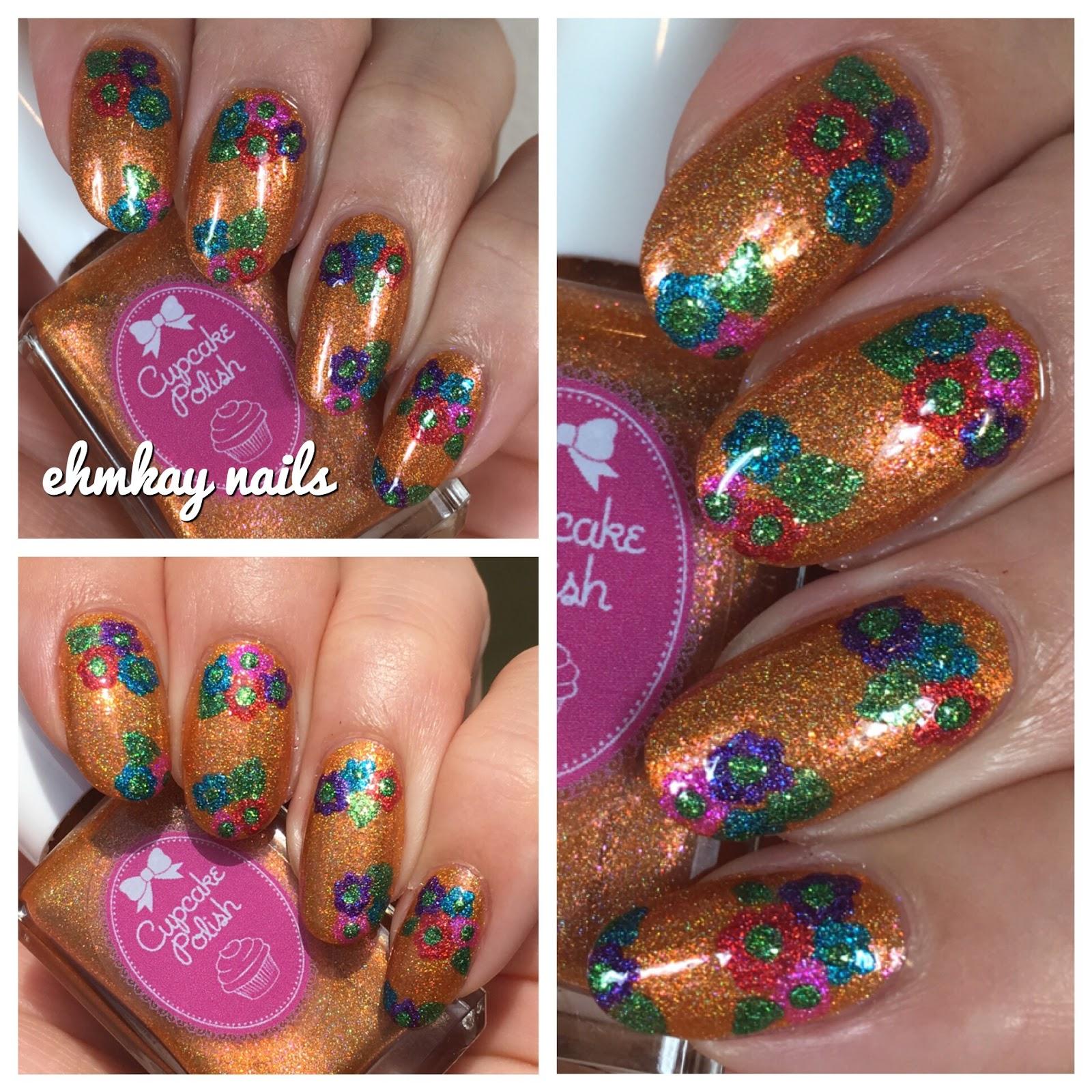 Ehmkay nails cupcake polish luau collection hawaiian flower nail art cupcake polish luau collection hawaiian flower nail art izmirmasajfo