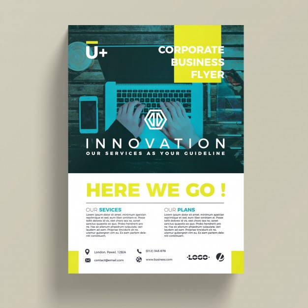 Innovative corporate business flyer template Free Psd