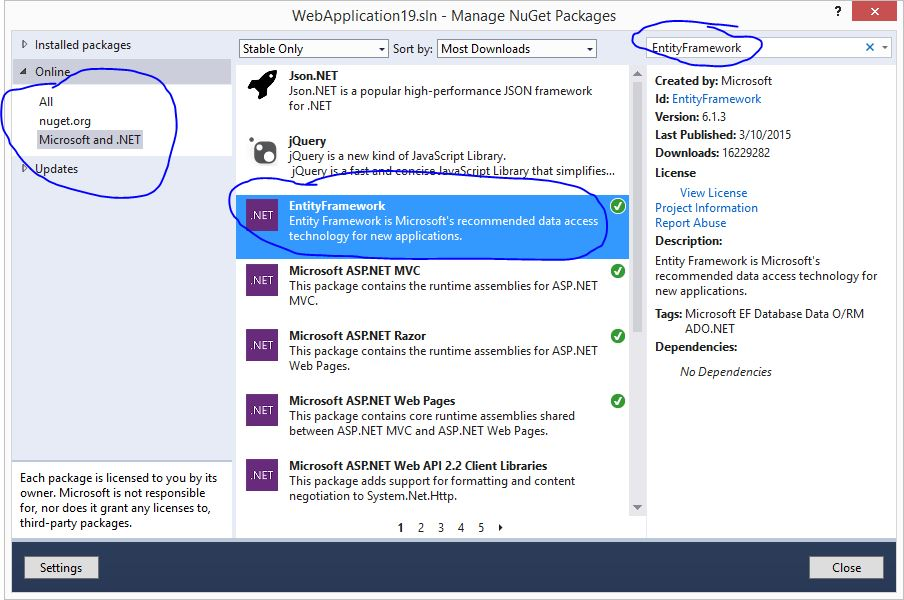 Manage Nuget Packages for Solutions...