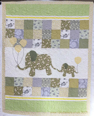 Mommy and Me Elephant baby Quilt, made by Maisie