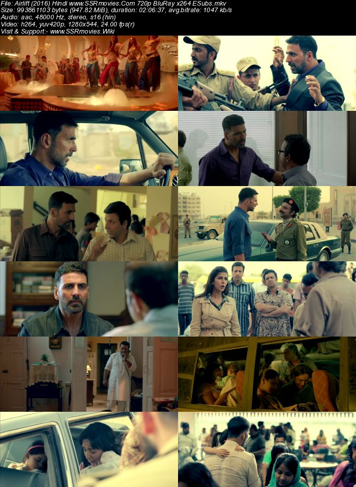 Airlift (2016) Hindi 480p BluRay x264 350MB ESubs Movie Download