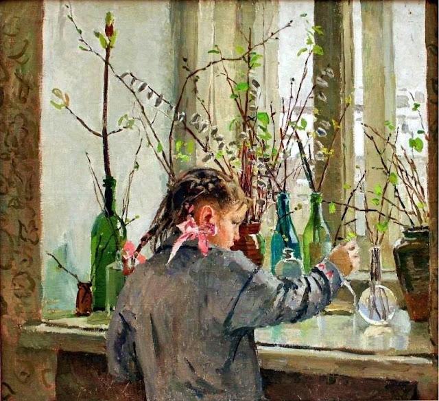 «На окне весна», Яблонская Татьяна Ниловна, 1954 г.
