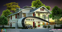 2422 Sq-ft 4 Bedroom Unique Ultra Modern Home - Kerala