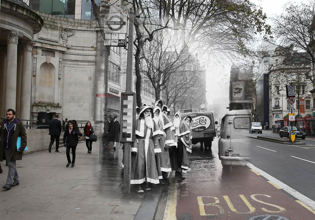 Amazing Then And Now Photos Merge London S Ghosts Of