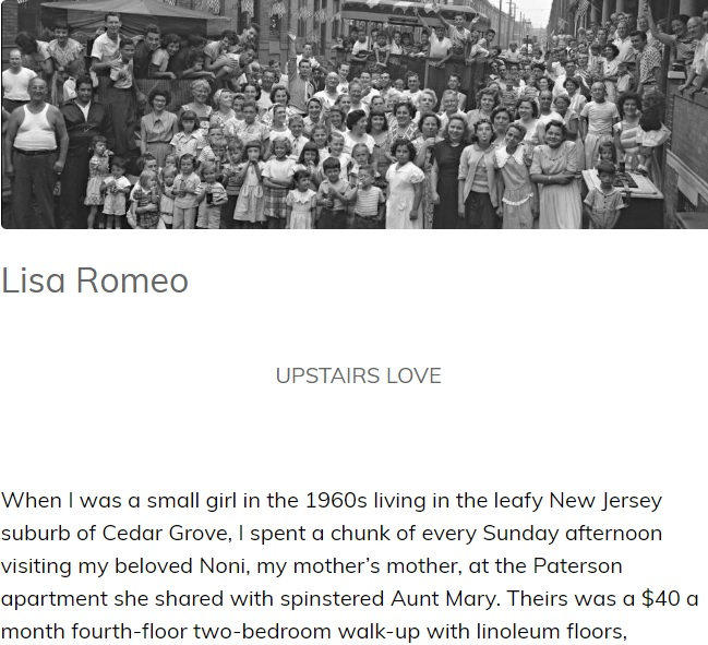 "New essay, ""Upstairs Love,"" featured in Ovunque Siamo..."