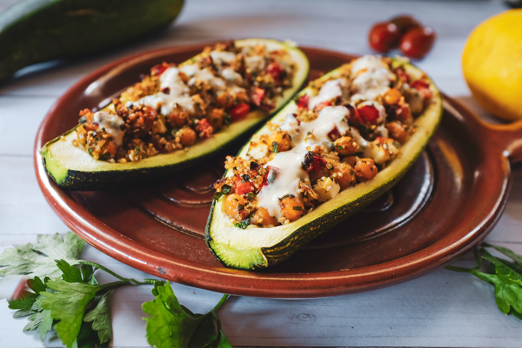 Middle Eastern Zucchini Boats | Local Food Rocks