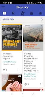 Pencarian iPusnas - Baca buku digital