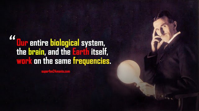 Our entire biological system, the brain, and the Earth itself, work on the same frequencies.