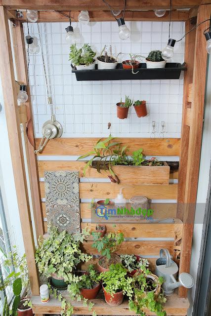 khu vườn nhỏ ở ban công