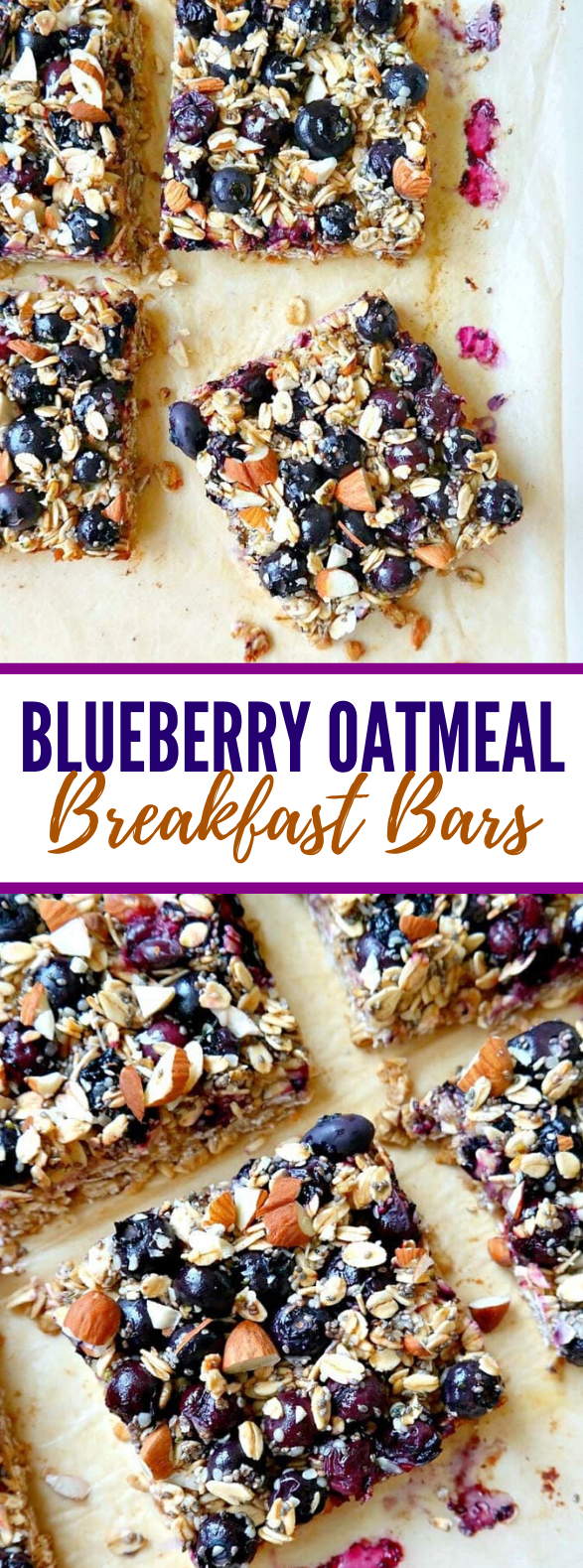 Blueberry Oatmeal Breakfast Bars #healthy #vitamin