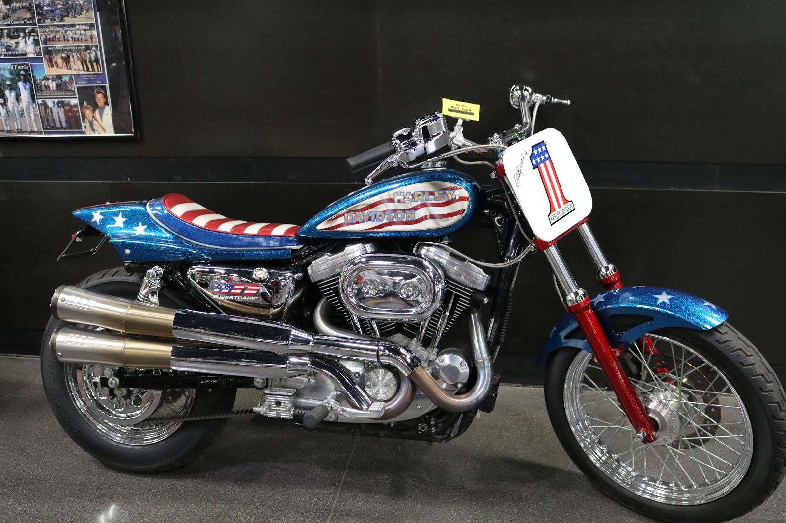 Evel Knievel Bike At Bonham S Las Vegas Moto Auction: OldMotoDude: Harley-Davidson Sportster Evel Knievel