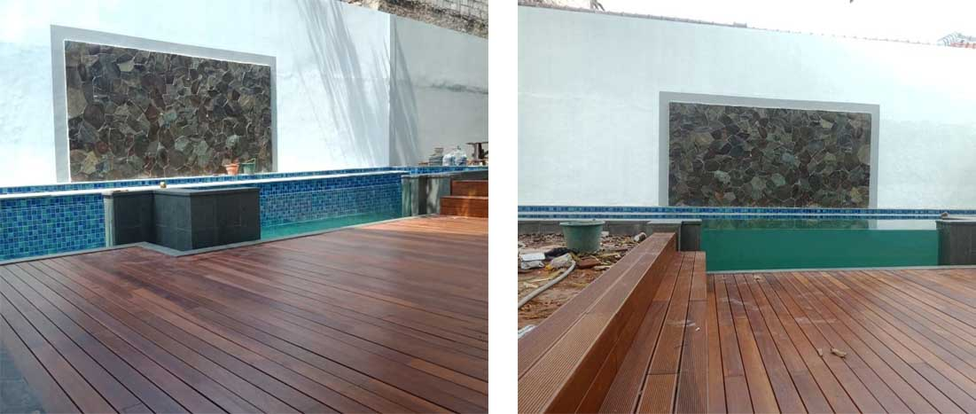 lantai kayu ulin terpasang