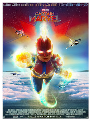 Captain Marvel Movie Poster Giclee Print by Andy Fairhurst x Grey Matter Art