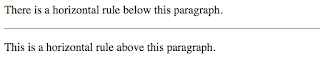 pembuatan garis horizontal untuk memisahkan dokumen dengan menggunakan tag hr pada laman html