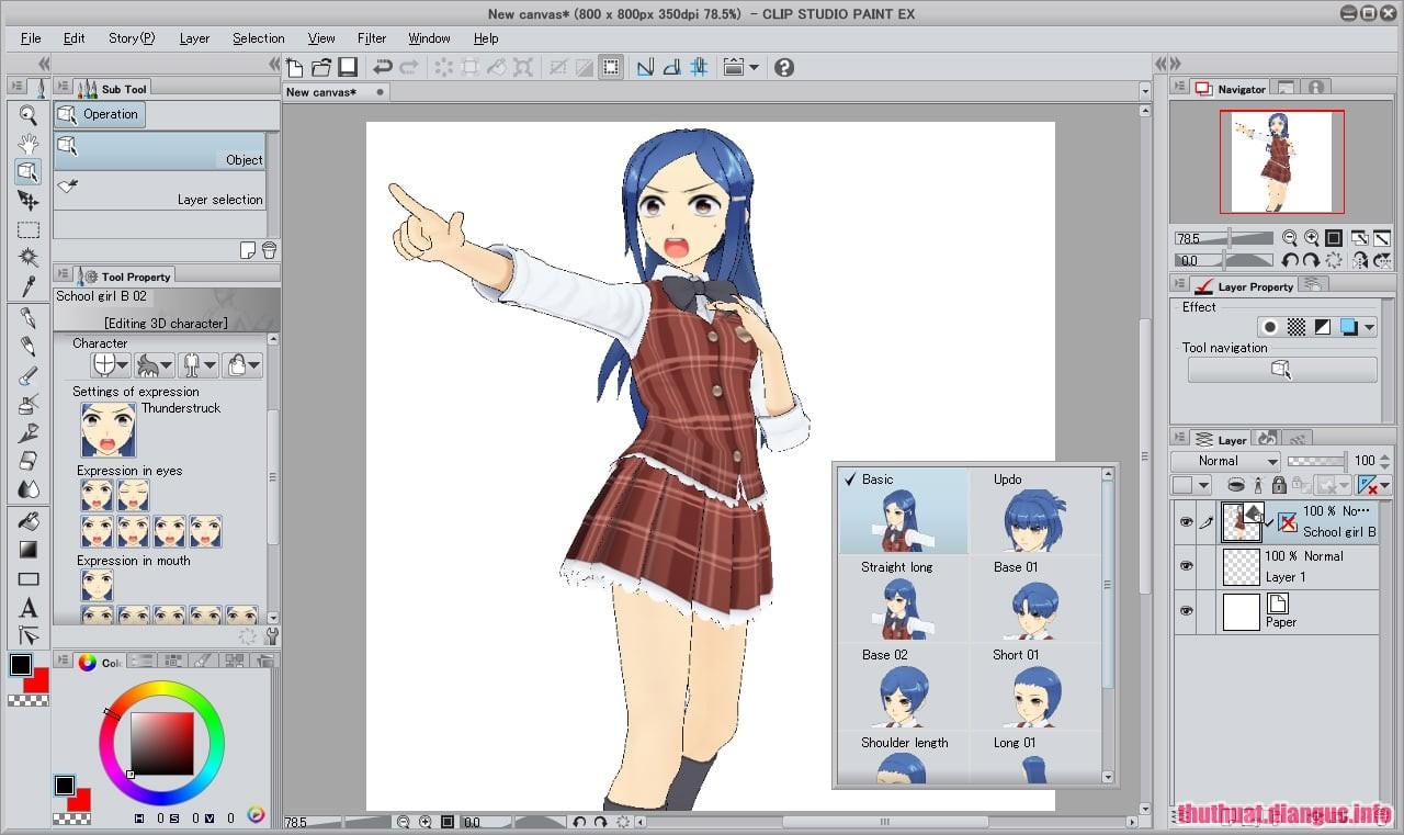 Download CLIP STUDIO PAINT EX 1.8.2 Full Cr@ck + Material – Phần mềm vẽ truyện tranh