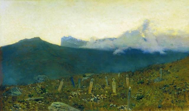 Исаак Ильич Левитан - Татарское кладбище. Крым. 1886