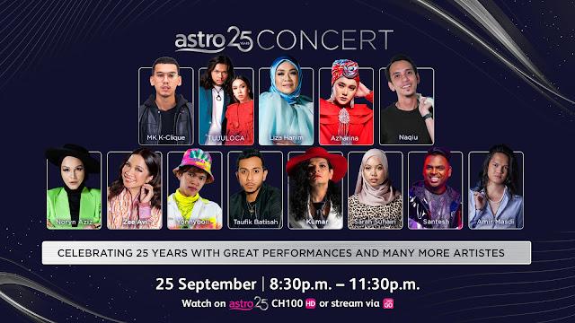 Astro 25 Concert Membariskan Gandingan Artis Tempatan Dan Antarabangsa Terhebat